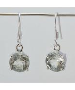 jewellery 925 Sterling Silver cute genuine Green Earring gift UK - $12.68