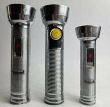 Vintage Eveready Captain Family Pack! Mom, Dad, And Baby Captain!! Flashlights - $13.99