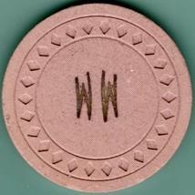 Vintage Casino Chip. MM or (WW), chip of unknown origin. B73. - $5.95