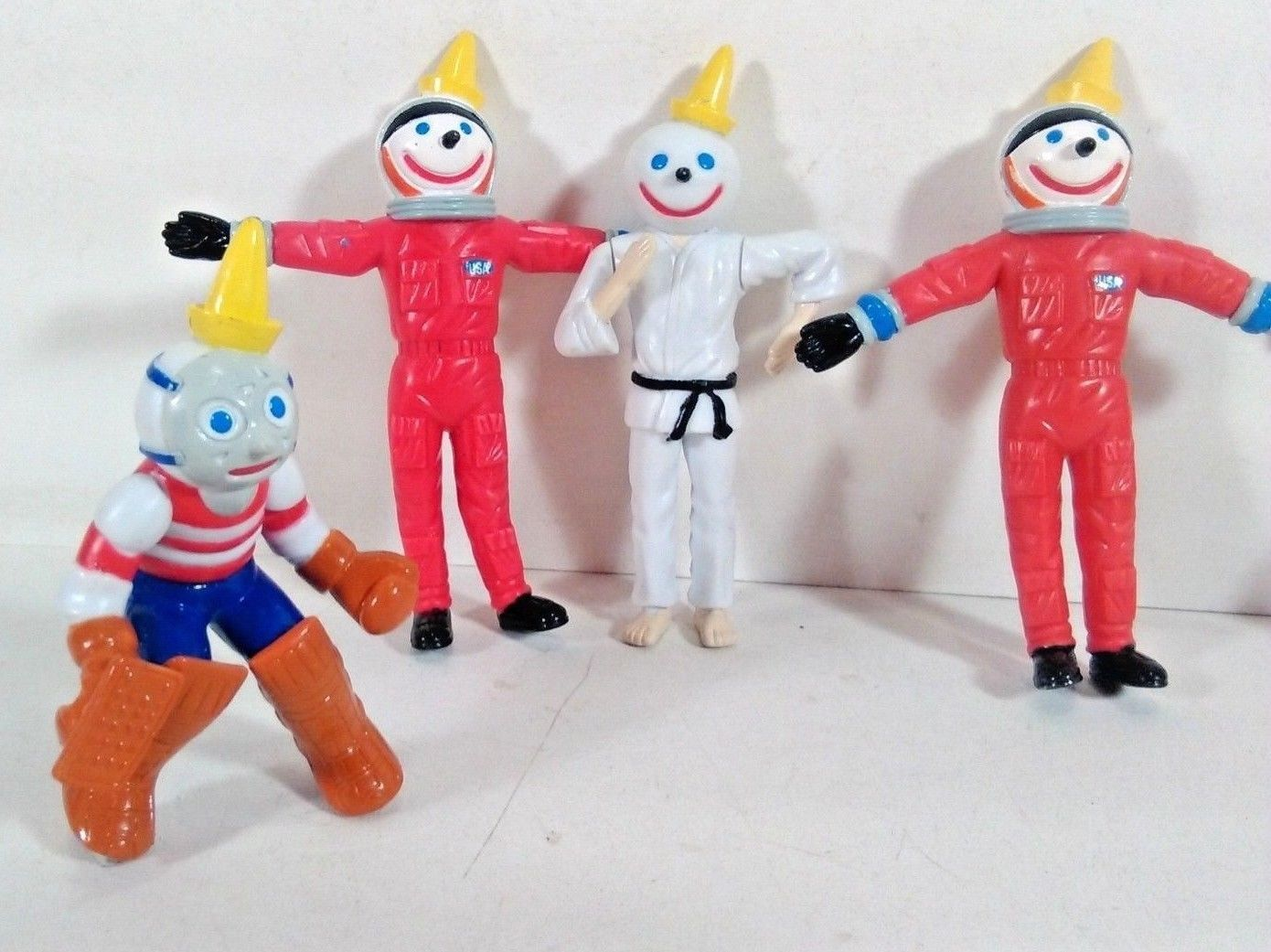 Lot of 5 Jack in the Box Bendable Jack Figurine Toys Vintage