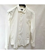 Hugo Boss Sz 42 16.5 Shirt White Slim Fit Long Sleeve Mens - $26.44