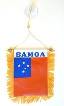 Western Samoa Mini Banner Flag Car & Home Window Mirror Hanging 2 Sided - $16.00