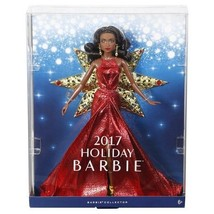 Barbie Collector 2017 Holiday Nikki Black Hair with Red Dress Doll - Bra... - $16.83