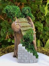 Miniature Dollhouse FAIRY GARDEN Furniture ~ Two Story Double Tree House... - $35.99