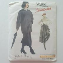 Vintage Vogue Individualist Betty Jackson Jacket Skirt Pattern 1970 Size... - $10.88