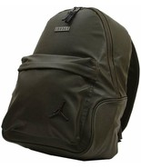 NEW Jordan Regal Air Faux Leather Backpack OLIVE GREEN 9A0136-X34 BACK P... - $74.79