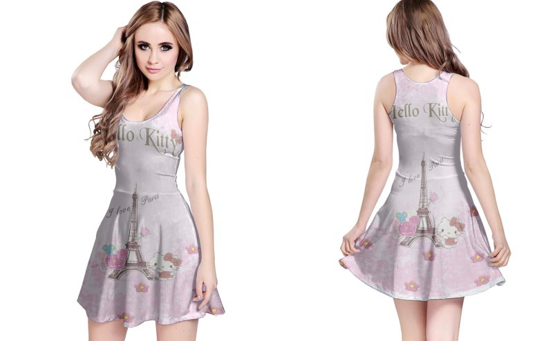 Primary image for Hello Kitty I Love Paris REVERSIBLE DRESS FOR WOMEN