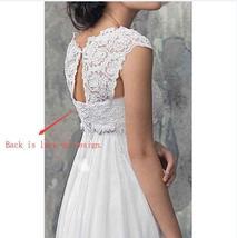 Designer Chiffon Wedding Dress High Waist Maternity Wedding Gown image 6