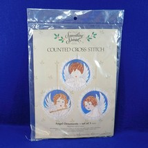 New Vintage Angel Ornaments Counted Cross-Stitch Kit Set of 3  Something Special - $9.50