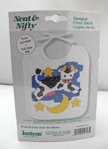 Janlynn Neat & Nifty Stamped Cross Stitch Baby Bib Kit #143-23 Cow Over ... - $8.04