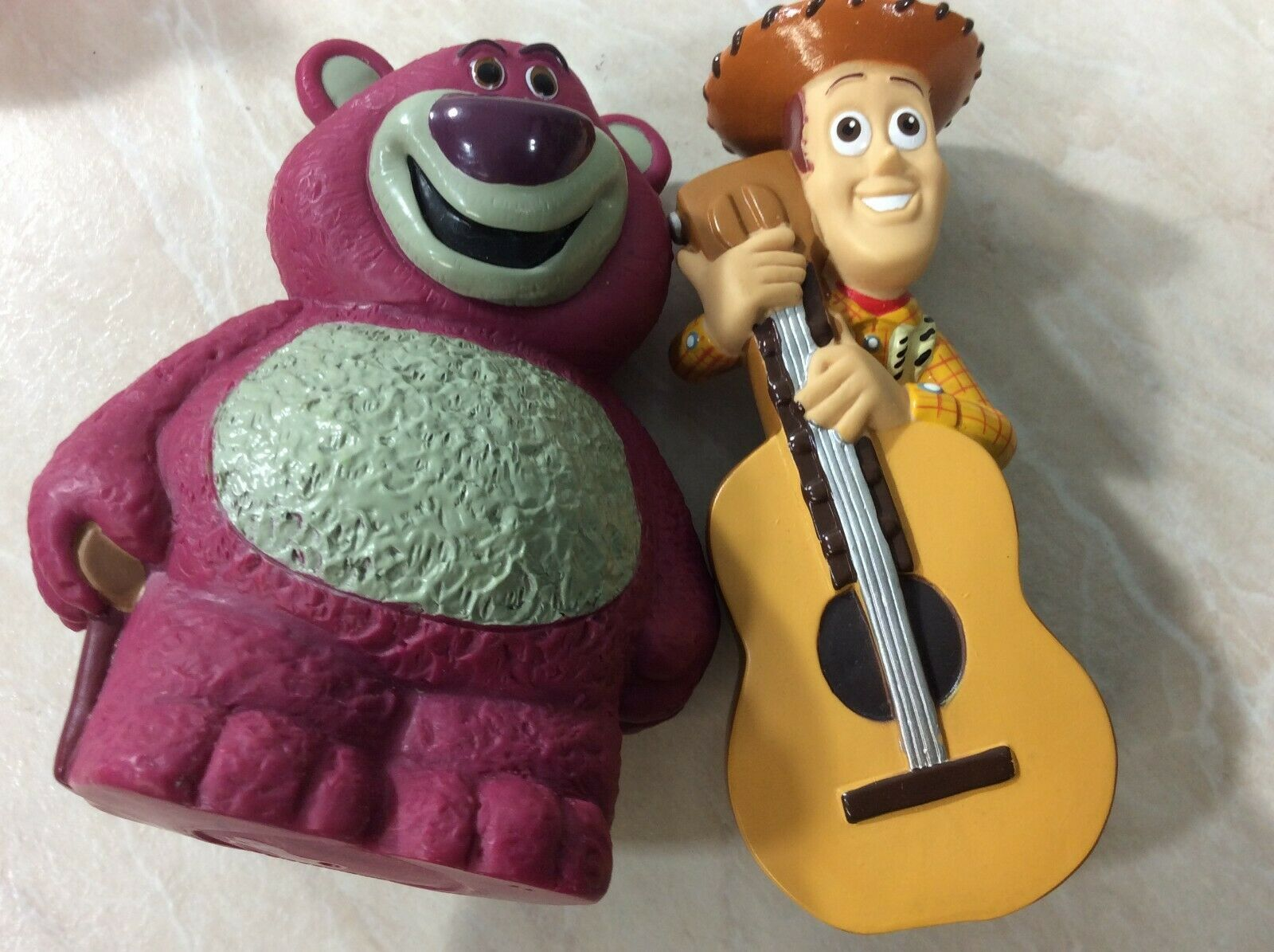 Disney Toy Story Figures with Carrying Bag 2014 Pixar Woody Buzz Hamm Lot of 7 image 7