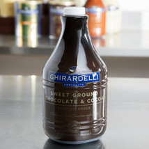 Ghirardelli 87 oz. Sweet Ground Chocolate & Cocoa Flavoring Sauce - $19.12