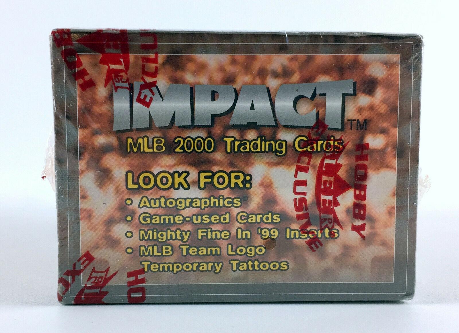 2000 Fleer Impact Baseball Hobby Box - 36 Packs - 10 Cards Per Pack