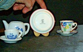 Miniature Pitcher, Tea Cups & Saucers AB 299 Vintage image 5