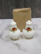 Royal Albert England Old Country Roses Salt and Pepper Shakers New in Box - $24.75