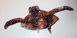 """Forward Swimming Sea Turtle Metal Decor copper/bronze plated 19"""" x 7 1/2"""" - $44.99"""