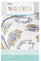 "Bucilla Stamped Embroidery Quilt Blocks 15""X15"" 6/Pkg-Imperial Dress - $17.24"