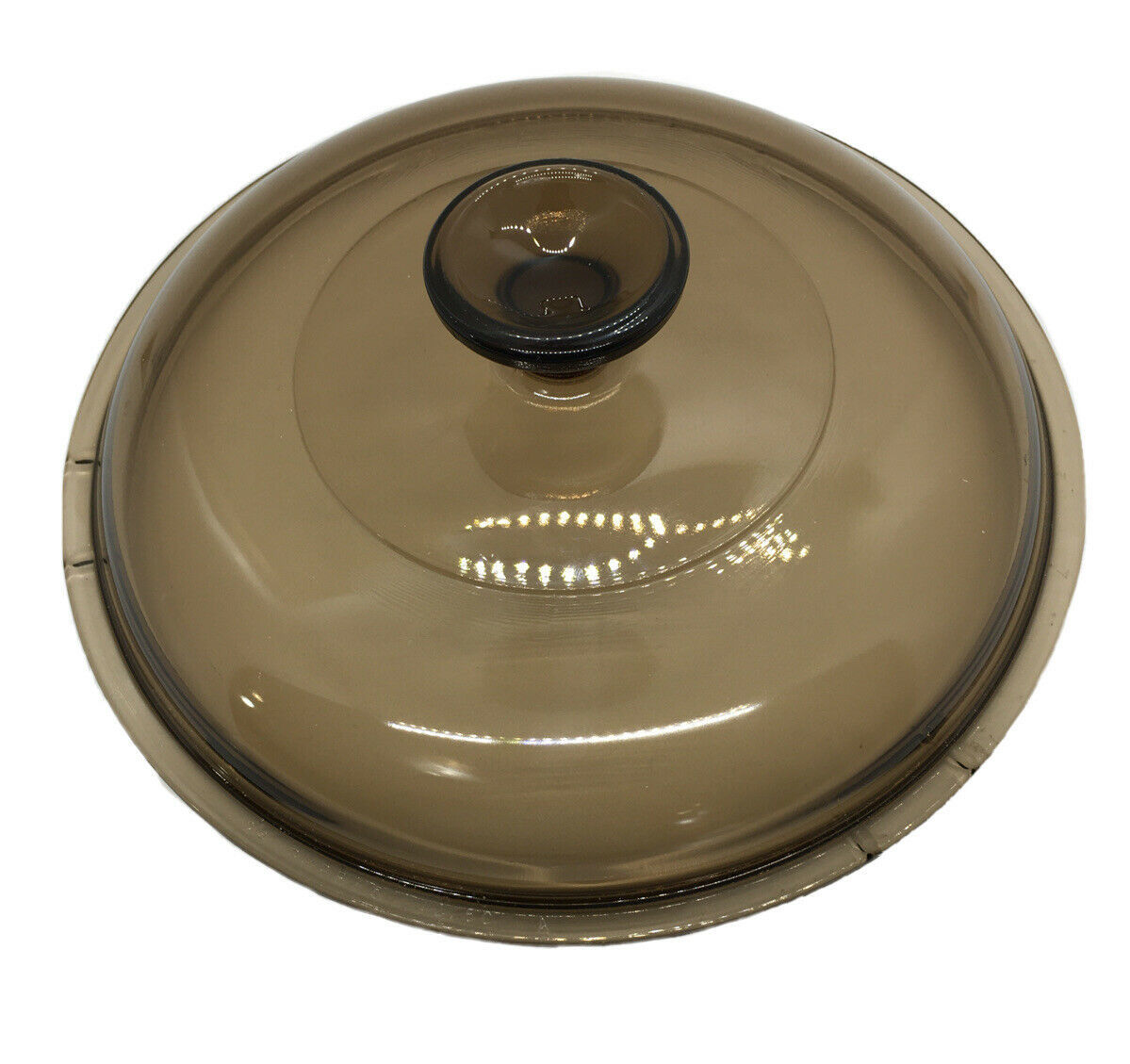 Pyrex Corning Visions Amber Round Glass Lid V-2.5-C  8 Inch - $7.92