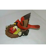 Takara 1992 Breezy Singer Cardinal Re Bird w Baby in Nest Chirps Hard to... - $40.05