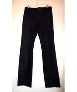 RALPH LAUREN SPORT women black suede lined leather pants very soft 10 - $67.50