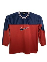 Nike vintage youth boys t-shirt sport long sleeve polyester size M 10-12 - $19.59