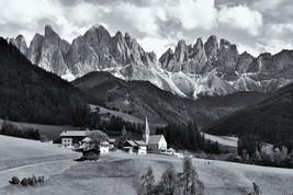 Italian Alps Print- Black and White Photography-Fine Art Print- Wall Dec... - $50.00