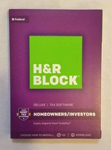 H&R Block 1433600-17 Tax Software Deluxe 2017 - $8.49
