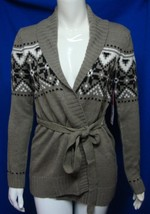 UK Style By French Connection Women's Belt Knit Cardigan Sweater Size XS... - $13.96