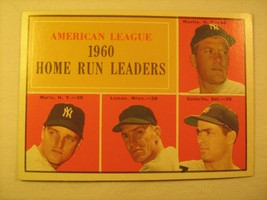 MLB Topps Baseball Card 1961 MANTLE MARIS 1960 Home Run Leaders #44 GREA... - $53.82