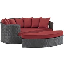 Sojourn Outdoor Patio Sunbrella® Daybed Canvas Red EEI-1982-CHC-RED - $1,198.75