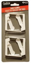 Cooking Concepts 4 PCS Table Cloth Clamp Clip Set