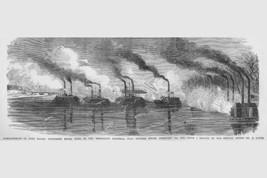 Bombardment of Fort Henry, Tennessee on the Mississippi by Frank Leslie - Art Pr - $19.99+
