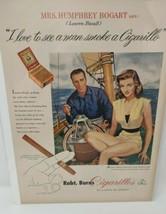 Vintage Print Advertisement Ad 1951 Robt. Burns Cigarillos Humphrey Bogart - $26.13