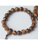 Prayer Beads Tiger Stripe Aloeswood Wrist Mala - Prayer Beads - 8mm  #41031 - $9.79
