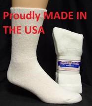 WHITE DIABETIC SOCKS CREW SOCKS PHYSICIANS CHOICE, SIZE 13-15 - $7.91+