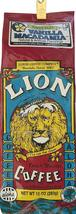 Lion Coffee VANILLA MACADAMIA, Whole Bean, 10 Oz. Bag, Smooth & Nutty - $14.75