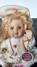 "2004 Edition Christina Verdi Sitting Doll Knees Bent 6"" White/Pink Dress... - $11.30"