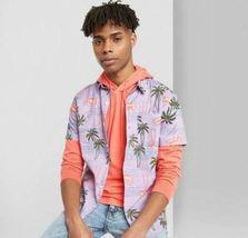 Original Use Men's Floral Print Short Sleeve Poplin Button-Down various sizes image 3