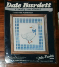 "Dale Burdett Goose with Plaid Border Unopened 7.5"" x 8.5"" Cross Stitch Kit - $6.89"
