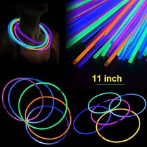 "novelinks 11"" Glow Sticks Necklaces 400 Pack - Glow Necklaces Bulk Light up Neck"