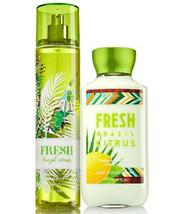 Bath & Body Works Fresh Brazil Citrus Body Lotion + Fine Fragrance Mist Duo Set - $27.39