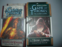 A Game of Thrones chapter pack lot of 2 rules of rhllor a hidden agenda  - $10.98