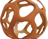 Decorative sphere Tulum Terracotta Orange Open Metal Orb, 6""