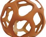 "Decorative sphere Tulum Terracotta Orange Open Metal Orb, 6"""