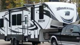 2016 Grand Design Momentum 350M Toy Hauler RV 5th Wheel Trailer 55449 image 1
