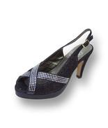 FIC FLORAL Tiffany Women Wide Width OpenToe Glitter High Heel Platform S... - $53.95