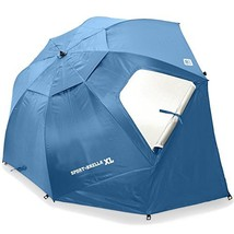 Sport-Brella X-Large Umbrella, Beach Baseball Deep Red, New, 3DAYSHIP! - $59.49