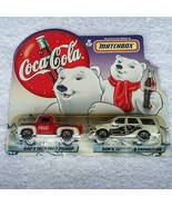 Matchbox Coca Cola Diecast Car Set NEW Dads 1956 Ford Pickup Son 1998 Ex... - $19.78