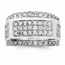 14K WHITE GOLD MEN'S LARGE 2 CT DIAMOND CLUSTER RING - 12.8 GRAMS  SIZE 10 - £2,974.03 GBP