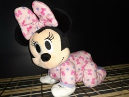 Fisher Price Disney~ Baby Minnie Mouse Touch-N-Crawl Plush Toy~ Sing/Talk~ WORKS - $12.86